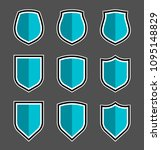 protect guard shield plain line ... | Shutterstock .eps vector #1095148829