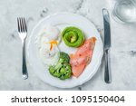ketogenic food concept   plate... | Shutterstock . vector #1095150404