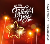 happy father s day handwritten... | Shutterstock .eps vector #1095161999