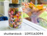 colourful sweet candies in... | Shutterstock . vector #1095163094