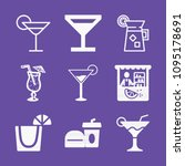filled set of 9 drinks icons... | Shutterstock .eps vector #1095178691