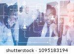 members of a diverse business... | Shutterstock . vector #1095183194