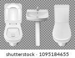 bathroom interior toilet and... | Shutterstock .eps vector #1095184655