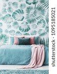 bright room interior with... | Shutterstock . vector #1095185021