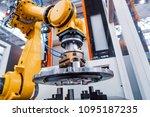 robotic arm production lines...   Shutterstock . vector #1095187235