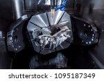 metalworking cnc milling... | Shutterstock . vector #1095187349