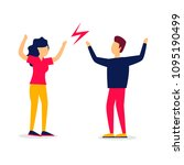 man and a woman are arguing  a...   Shutterstock .eps vector #1095190499