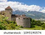 vaduz castle in the... | Shutterstock . vector #1095190574