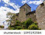 vaduz castle in the... | Shutterstock . vector #1095192584