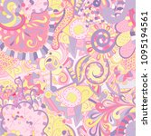 tracery seamless pattern.... | Shutterstock .eps vector #1095194561