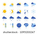 weather flat icons set. web... | Shutterstock .eps vector #1095203267