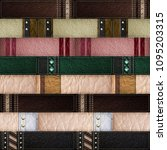 seamless leather patchwork... | Shutterstock . vector #1095203315