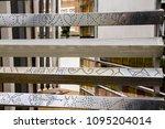 perforated aluminium sheet ... | Shutterstock . vector #1095204014