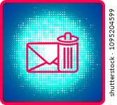 email delete vector line icon.... | Shutterstock .eps vector #1095204599
