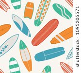 sea surfing pattern with... | Shutterstock .eps vector #1095205571