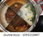 hot pot soup pot. | Shutterstock . vector #1095210887