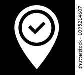map pointer with check mark... | Shutterstock .eps vector #1095214607