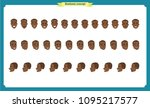 set of black american male... | Shutterstock .eps vector #1095217577