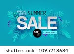 summer sale banner with paper... | Shutterstock .eps vector #1095218684