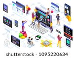 programming software interface... | Shutterstock .eps vector #1095220634