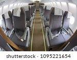 aircraft interior. the... | Shutterstock . vector #1095221654