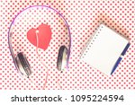 love music concept with... | Shutterstock . vector #1095224594