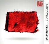 red brush stroke and texture.... | Shutterstock .eps vector #1095226091