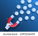 concept of crypto currency.... | Shutterstock .eps vector #1095226439