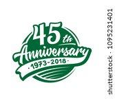 45 years anniversary design... | Shutterstock .eps vector #1095231401