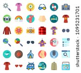 hippie icons set | Shutterstock .eps vector #1095231701