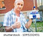 patient undergoing chemo... | Shutterstock . vector #1095232451
