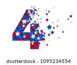 four digit alphabet character... | Shutterstock .eps vector #1095234554