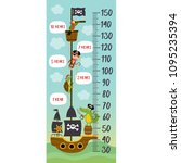 growth measure with pirates... | Shutterstock .eps vector #1095235394