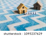 miniature house model with ... | Shutterstock . vector #1095237629