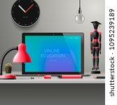 online learning  webinar ... | Shutterstock .eps vector #1095239189