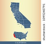 california county map with... | Shutterstock .eps vector #1095240791
