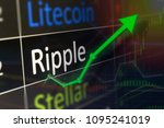 ripple coin trading chart for...   Shutterstock . vector #1095241019
