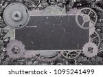 dark metal blank old label in... | Shutterstock . vector #1095241499