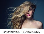 beautiful female with long... | Shutterstock . vector #1095243329