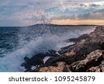 the adriatic sea is getting a...   Shutterstock . vector #1095245879