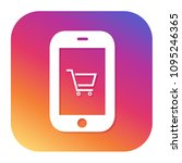 smartphone shopping icon with... | Shutterstock .eps vector #1095246365