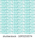 seamless pattern with... | Shutterstock . vector #1095253574