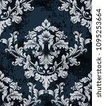 damask texture pattern vector.... | Shutterstock .eps vector #1095253664