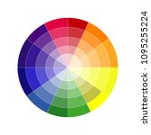 the palette of colors. plish... | Shutterstock .eps vector #1095255224