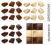 vector icon set   chocolate... | Shutterstock .eps vector #1095255245