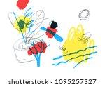 contemporary art background.  ... | Shutterstock .eps vector #1095257327