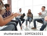 business people are applauding | Shutterstock . vector #1095261011