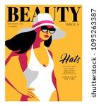 abstract girl wearing swimsuit  ... | Shutterstock .eps vector #1095263387