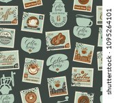 vector seamless pattern with... | Shutterstock .eps vector #1095264101