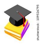 vector icon graduation cap   Shutterstock .eps vector #109526795